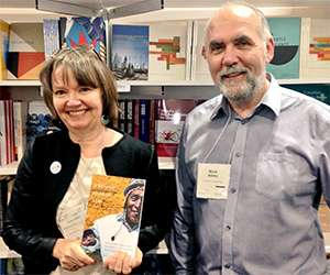 Author Susan Walsh with MQUP editor Mark Abley